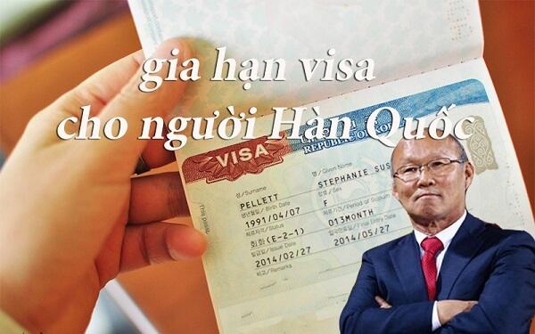 gia hạn visa cho người hàn quốc tại việt nam hình 1